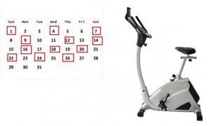 Количество занятий на велотренажере в неделю